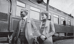 Fig. 3. Snapshot of Alice Dunbar-Nelson with then-husband Paul Laurence Dunbar on the way to Colorado to treat his tuberculosis. 1899. Used with the compliments of the Mark E. Mitchell Collection of African American History.