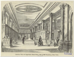 "Figure 6. ""Interior View of Appleton's Book Store, 346 & 348 Broadway, New York."" The Historical Picture Gallery: or, Scenes and Incidents in American History (Boston, 1856). New York Public Library Digital Gallery."