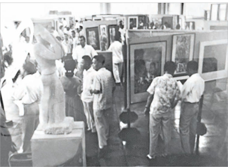 Figure 1. Image of the First Southeast Asia Art Competition Exhibition, Manila, 12 May 1957. Courtesy of Vanessa Ban. Original source can be found in the MoMA Archives, New York IC/IP I.A.408