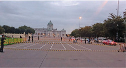 Figure 8. The Protected Royal Plaza and the People's Party's Plaque on the Commemoration of the 1932 Revolution on 24 June 2014. Source: [accessed 11 May 2015]