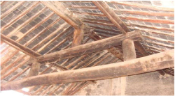 Fig 1. The beams and rafters of the front hall.