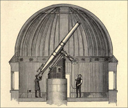 Fig. 1. Section of the Dome of Dunsink Observatory, from Robert Ball, The Story of the Heavens (London: Cassell, 1885), 13.