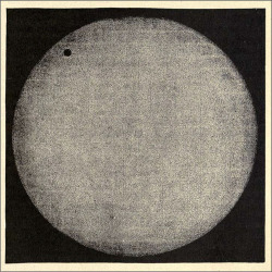 Fig. 2. Venus on the Sun at the Transit of 1874, from Robert Ball, The Story of the Heavens (London: Cassell, 1885), 147.