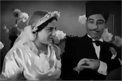 Figure 4. Amina and 'Abdu celebrate their wedding. Screenshot, Mistreated by Affluence (1937).