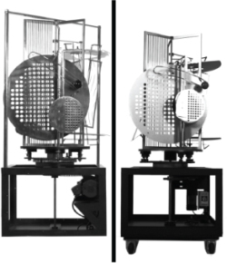 Color Plate J.1. (Left) László Moholy-Nagy, Light Prop for an Electric Stage (1930), Harvard Art Museums BR56.5; (right) Exhibition replica (2006), constructed by Jürgen Steger, courtesy of Hattula Moholy-Nagy, Harvard Art Museums 2007.105. (© Artists Rights Society [ARS], New York / VG Bild-Kunst, Bonn) Images by Cristoforo Magliozzi, metaLAB (at) Harvard; courtesy of the Harvard Art Museums.