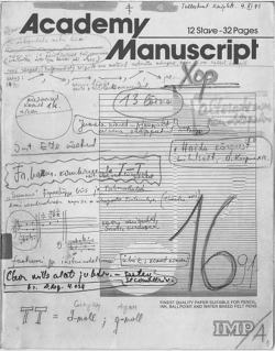 Fig. 4. Cover of a musical diary from 1991.
