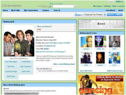 "Fig. 7. The Friendster Social Networking Site Was Supported by Banner Ads; Friendster is Cited as ""Giving Birth to the Modern Social Media Movement,"" circa 2007"