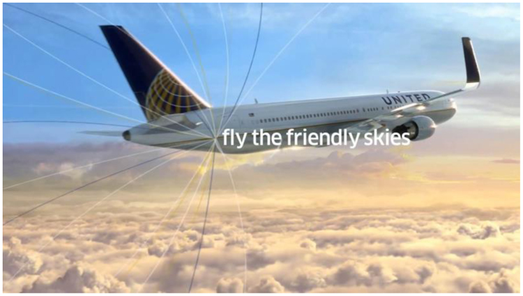 "Fig. 39. United's ""Friendly"" Motto, ca. 2013"