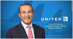 "Fig. 42. Satire Featuring United CEO Oscar Munoz, Who Was Named ""Communicator of the Year"" by PRWeek In March 2017; the Designation Was Later Ridiculed."