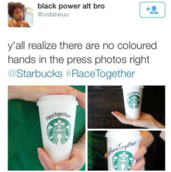 Fig. 47. Tweet Criticizing Starbucks' Lack of People of Color in Its #RaceTogether Campaign