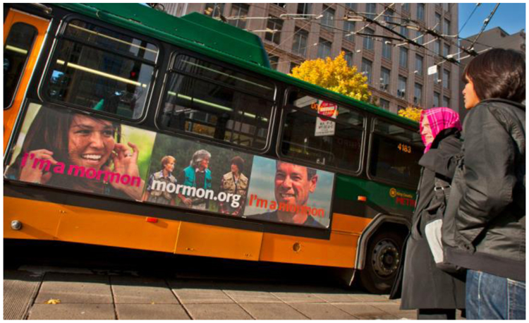 "Fig. 48. ""I'm a Mormon"" Campaign Ad on a Bus in Seattle, Washington"