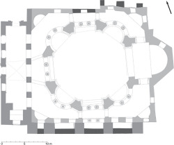 Fig 2. Plan of Sts. Sergius and Bacchus at ground-floor level. © Jonathan Bardill