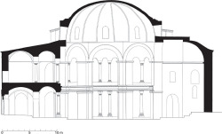 Fig 7. Sectional elevation of Sts. Sergius and Bacchus in its current state. © Jonathan Bardill