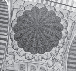 Fig 10. Selimiye Camii, Edirne, view looking up into the dome of the porch. © Jonathan Bardill