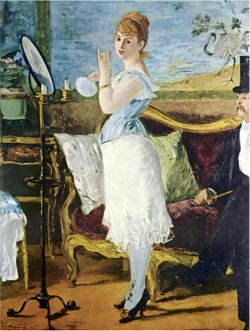 Figure 7. Édouard Manet, Nana, 1877, oil on canvas, 264 × 115 cm. Courtesy the Kunsthalle Hamburg art museum