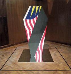 Figure 2. Redza Piyadasa, 13 May 1969 (1970, reconstructed 2006). Acrylic on plywood and mirror. On display at the National Gallery Singapore. Collection: Singapore Art Museum. Source: Sunitha Janamohanan