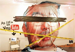 Figure 6. Fahmi Reza, Najib's Head Stolen From Billboard (2009). Mixed media installation, Rock Kaka exhibition, Valentine Willie Fine Art Kuala Lumpur. Source: Artist's Facebook Page, , 11 February 2016 [accessed 28 March 2017]