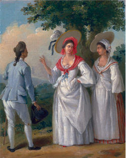 Figure 2. Agostino Brunias, Free West Indian Creoles in Elegant Dress, oil painting New Haven, Yale Center for British Art, Paul Mellon Collection