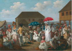 Figure 5. Agostino Brunias, Linen Market, Dominica, oil painting New Haven, Yale Center for British Art, Paul Mellon Collection