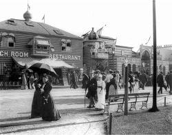 "Fig. 9. Midway Plaisance, The ""Turkish Village"" at the World's Columbian Exposition, 1893, Wikimedia Commons."