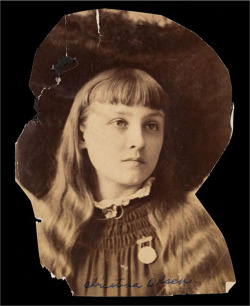 Fig. 10. Photograph of Cristina Olson, Newberry Library photo, Christina Olson Papers, Newberry Library, Chicago. Courtesy of the Newberry Library.