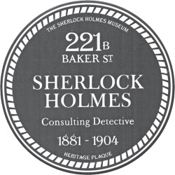 Fig. 1. Imitation blue plaque for 221B Baker St. Photo courtesy of the author.