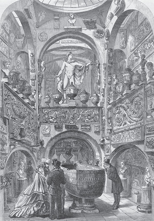 Fig. 1. Sir John Soane's Museum in Lincoln's-Inn-Fields: The Sarcophagus-Room. The Illustrated London News: June 25, 1864