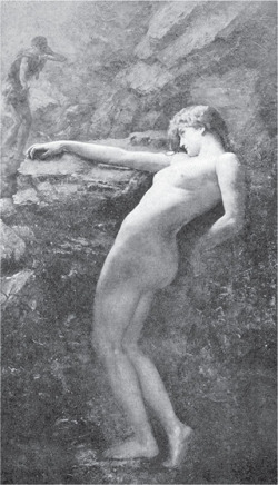 Fig 1. Henrietta Rae, Eurydice Sinking Back to Hades. from Arthur Fish, .