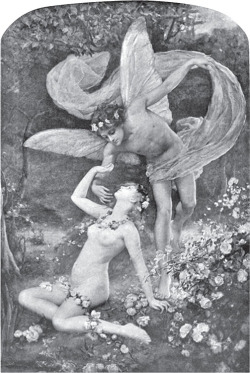 Fig 2. Henrietta Rae, Zephyrus Wooing Flora. from Arthur Fish, .