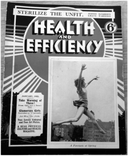 Figure 1. Health and Efficiency cover, January 1932. Courtesy H&E naturist/Hawk Editorial Ltd.
