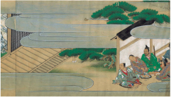 Plate 3. Outer courtyard and front garden at Kōhan's residence. Courtesy of Bibliothèque nationale de France.3.