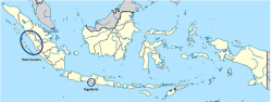 Figure 1. Locating West Sumatra in contrast to Yogyakarta. Image courtesy of the author