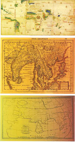Figure 5. Historic Maps depicting Southeast Asia. Taken from the catalogue of This World, Out Here
