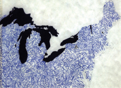 Figure V. Lisa Brooks, Network of Waterways, using ArcGIS 8.0, courtesy Cornell University.