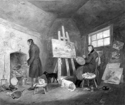Figure 1. George Morland, The Artist in His Studio with His Man Gibbs, circa 1802. Oil on canvas. 63.5 × 76.2 cm. Image courtesy of Nottingham City Museum and Art Gallery, Nottingham.