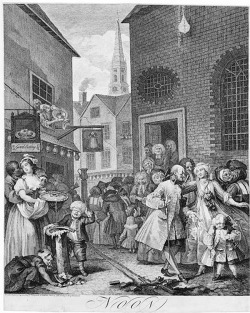Figure 3. William Hogarth, Noon/The Four Times of Day, 1738. Etching and engraving. 48.2 × 38.8 cm. British Museum, London, UK.