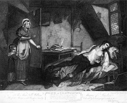 Figure 4. Edward Orme after Henry Singleton, The Death of Chatterton, 1794. Stipple and etching. 40.7 × 50.4 cm. British Museum, London, UK.