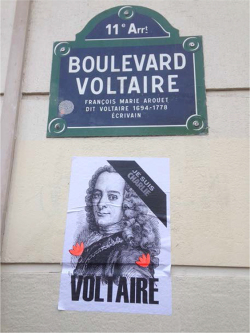 Figure 1. Paris, 11 July 2016. Photograph courtesy of Anne Depaulis, posted on Voltaire Foundation blog, 12 July 2016. . Accessed 19 December 2016.
