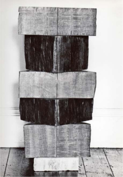 Figure 4. Kim Lim, Column l, 1960, wood, 94 cm (h). Photograph: Kim Lim. Image courtesy of the estate of Kim Lim