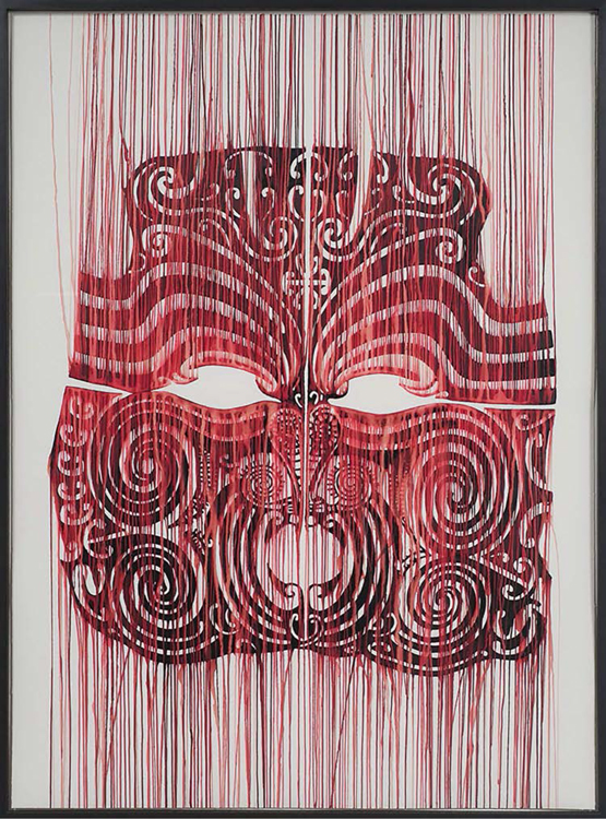 Plate 8. Tony de los Reyes, Cannibal, 2009, red blister on paper. 59 1/2 x 44 1/2 x 2 in. <br/><br/>Courtesy of the artist.