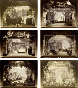 Figures 6a–f. Sets for Rudolf Hraby, Undine (Albert Lorzing), Kōln, 1900. The last image is the underwater palace. Photographs. TWS PS 2066.