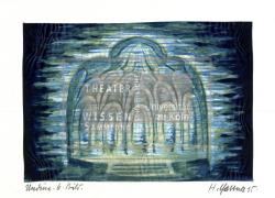 Figure 8. Underwater palace, Hans Gassner, Undine (Albert Lorzing), Hagen, 1935. Watercolor. TWS G11535e.
