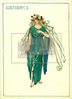 Figure 13. Costume design for Undine, Atelier Hermann Kaufmann, Undine (Lorzing), Berlin, ca.1925. Tempera. TWS G3390.