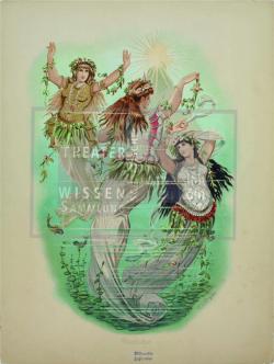 Figure 15. Rheintōchter costumes, Carl Emil Doepler, Der Ring des Nibelungen (Richard Wagner), Bayreuth, 1876. Lithograph. TWS G2013/11/3.