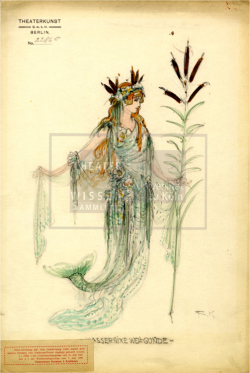 Figure 23. Costume design, Richard Kintzel, Wassernixe Wellgunde, Berlin, 1920s. Tempera. TWS G3123c.