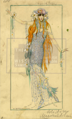 Figure 26. Costume design for Seejungfrau, Erna Bergmayer, Meermädchen Ballett, Berlin, ca.1920–25. Tempera. TWS G3464e.