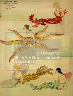 Figure 27. Revue figures (coral, starfish, oyster, and mollusc), Basil Crage (Theaterkunst Atelier of Hermann Kaufmann), Unterwassertiere Ballett, Berlin, ca.1915. Tempera. TWS G3252.