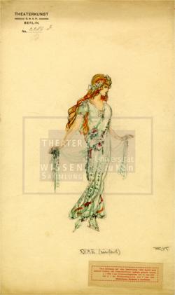 Figure 28. Costume design for Nixe with ice skates, Richard Kintzel, Undine, Berlin, ca.1925. Tempera. TWS G3123c.