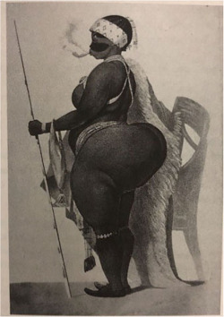"Figure 4. Poster of ""Sartjee, the Hottentot Venus."" Courtesy of the British Library."