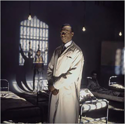 Figures 1–4. Colin Salmon in Isaac Julien's Frantz Fanon: Black Skin, White Masks (UK, 1995).